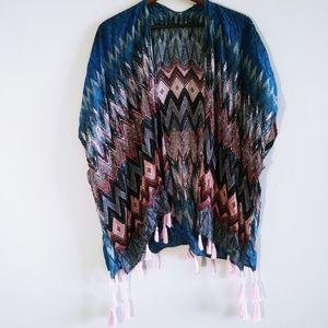 Women Beautiful Vibrant Cardigan Short Sleeves M